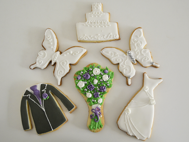 galletas de boda hechas con glasa