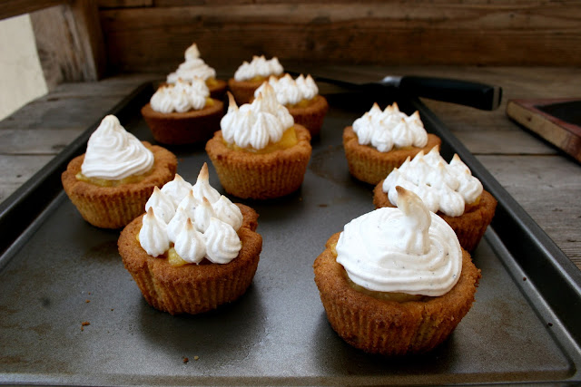 Grapefruit and Pepper Meringue Tartlets with Witchin' in the Kitchen