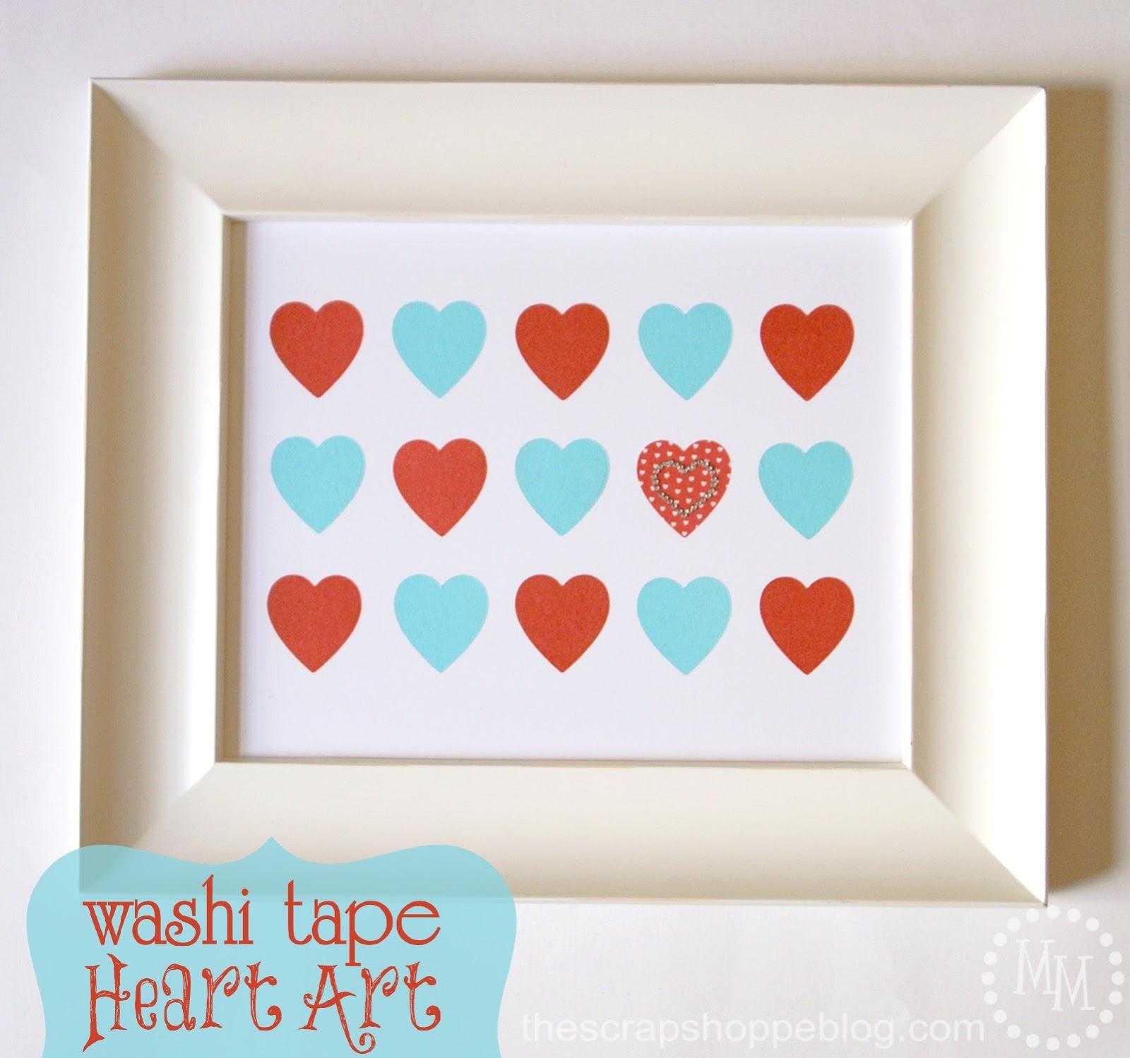 valentine 39 s day washi tape heart art lifestyle crafts. Black Bedroom Furniture Sets. Home Design Ideas