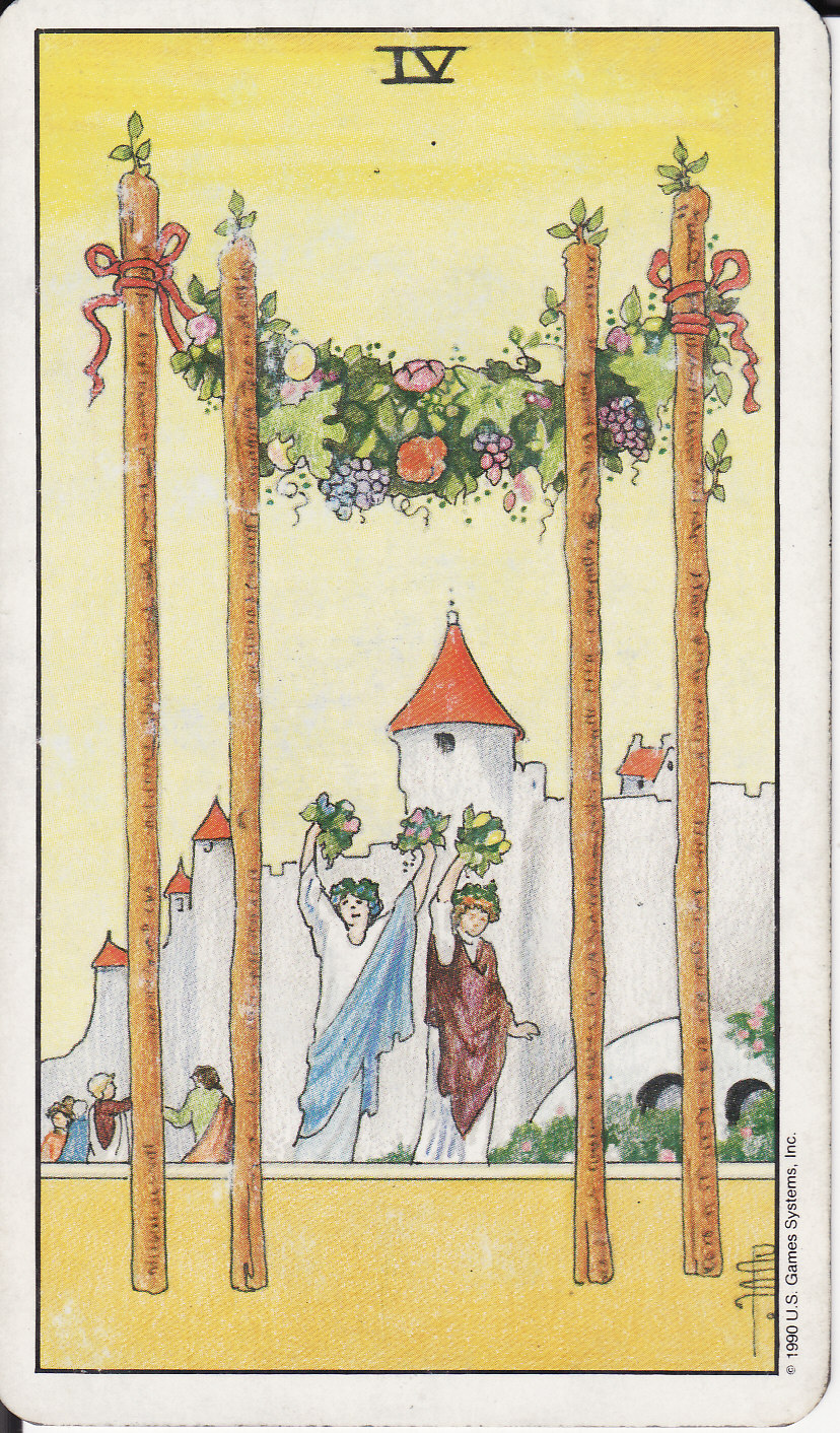 Tarot the royal road 4 four of wands iv for 4 wand filmproduktion