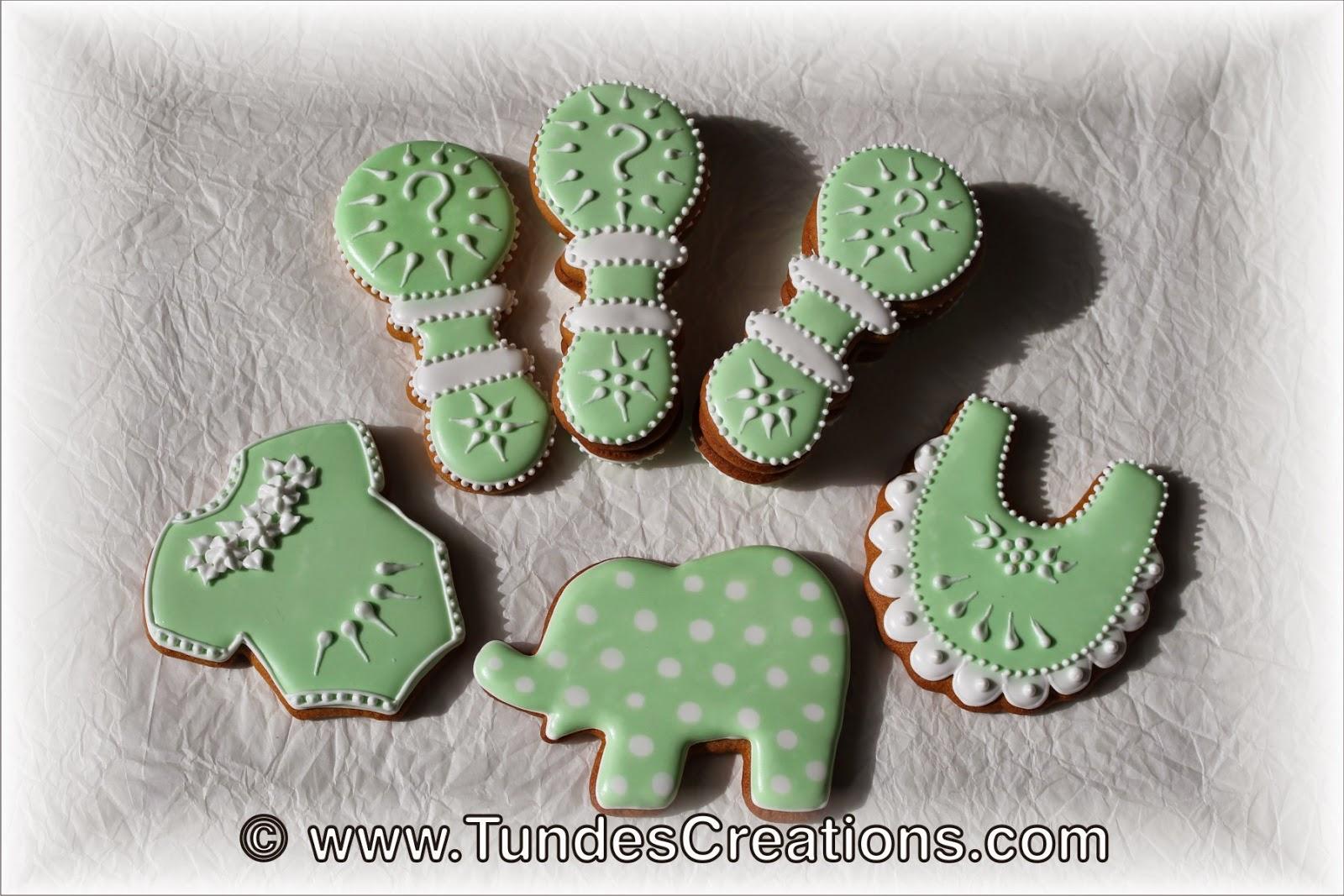 Baby shower cookies with gender reveal cookies