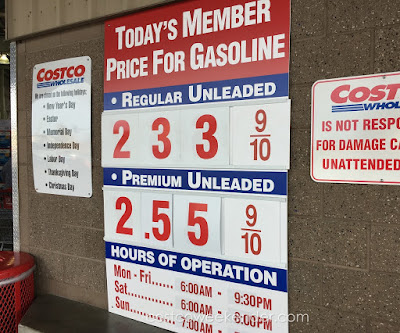 Costco gas for Dec 10, 2015 at Redwood City, CA