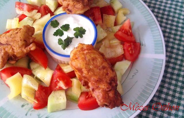 cukkinis csirke fotó