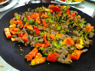 Stir fried meat and veggies Turkish style