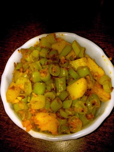 Aloo Beans Palya /  Aloo Beans Sabzi