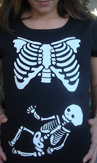 Skeleton Xray Maternity Top Halloween