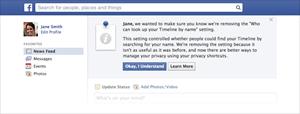 Facebook postavke tražilica