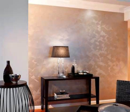 metallic paint ideas for walls