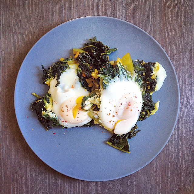 Baked eggs and kale recipes - baked eggs and kale recipe