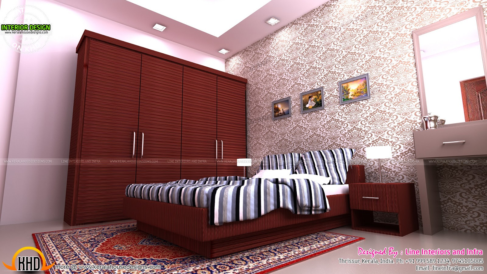 Modular kitchen bedroom dining interiors in kerala for Dining room wardrobe designs