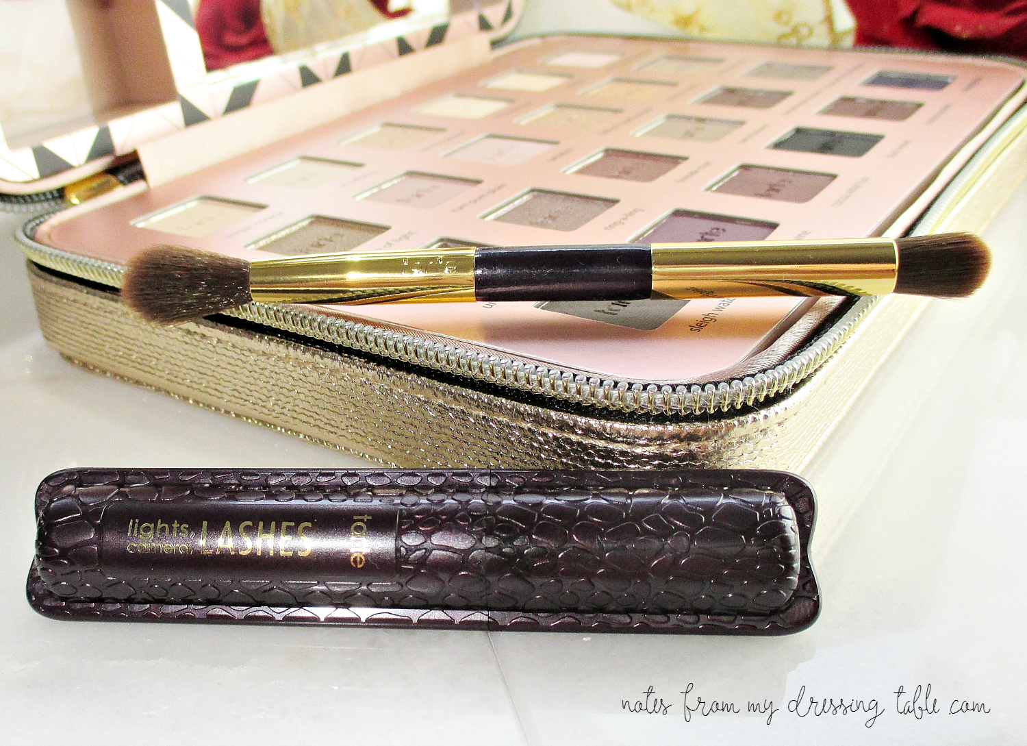 Tarte Light of the Party Mini Mascara and Travel Brush Details notesfrommydressingtable.com