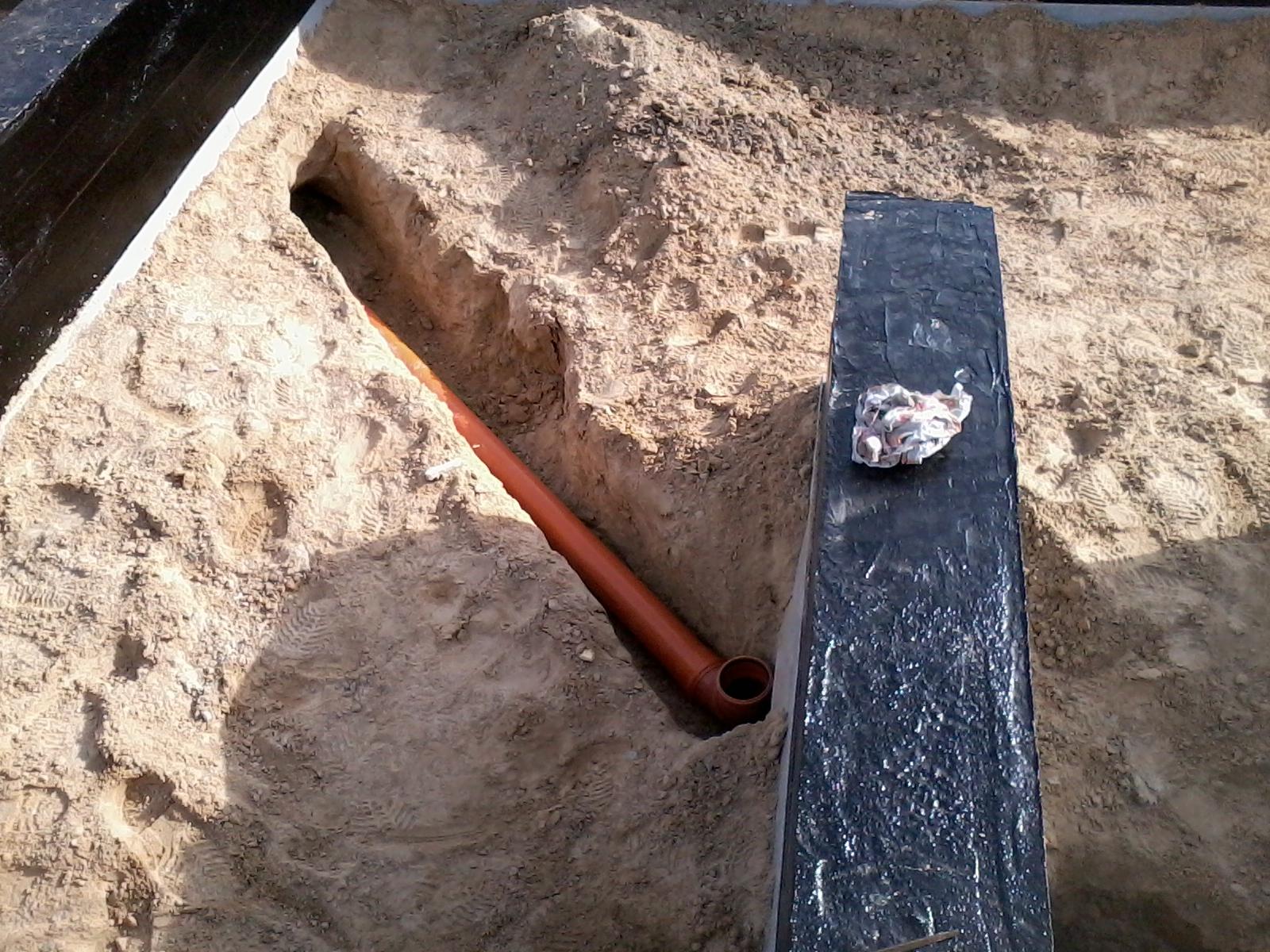 Фундамент и коммуникации - канализация и водопровод 77