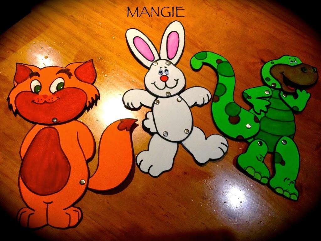 Marionetas animales foamy