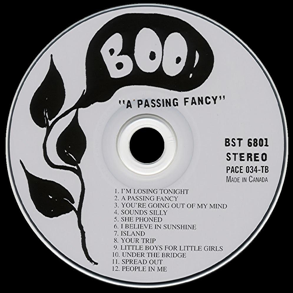 """A banda """"A Passing Fancy"""" (uma moda passageira) foi formada em meados dos anos sessenta na cidade de Yorkville Village, Toronto. Em 1967 a banda lançou seu single de estréia, chamado """"I'm Losing Tonight"""" (estou perdendo hoje à noite""""), ironicamente um nome que remete ao fracasso, tornou-se imediatamente um sucesso e marcou alta posições nas paradas da costa leste. Em 1968, """"A Passing Fancy"""" lançou um álbum auto-intitulado pelo selo independente Boo Records, que foi bem recebido pelos ouvintes e recolheu boas críticas. O selo Boo, formado por dois proprietários de lojas de disco, só lançou o álbum na área de Toronto, e por isso a fama nacional, iludiu a banda.  A música do álbum  é altamente influenciada pelo pop britânico, com elementos de psicodelia e um som americano tipico de garagem. A banda passou por algumas mudanças na formação durante a gravação do álbum, mas todos os músicos que trabalharam foram creditados. Os principais compositores da banda eram """"Jay Telfer"""" e os irmãos """"Fergus"""" e """"Greg Hambleton"""", as músicas foram bem escritas e bem tocadas. Pouco depois do lançamento do álbum, no mesmo ano, lançaram mais um single, chamado """"I Believe In Sunshine"""" (eu acredito na luz do sol), que também foi um sucesso.  Este single estourou em todo o Canadá e aumentou o interesse ao sul da fronteira, bem como alguns dos principais selos e gravadoras, mas infelizmente já era tarde demais porque a banda se desfez nesse meio tempo. """"Telfer"""" e os """"Hambletons"""", em particular """"Fergus"""" (chamado assim por um longo tempo), passaram a escrever mais músicas e gravar com outras bandas na década de setenta. Eles também fizeram um par de álbuns solos, que foram bem recebidos e ainda estão ativos no cenário musical canadense. """"Greg Hambleton"""" foi trabalhar com a Axe Records, enquanto """"Fergus Hambleton"""" continuou a se apresentar com sua banda de reggae """"Satellites"""".  Esta reedição em CD do álbum, com os registros originais da Boo Records em associação com o selo americano """"Timothy's Br"""