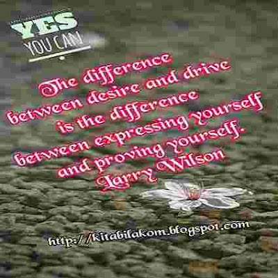 The difference between desire and drive is the difference between expressing yourself, and proving yourself