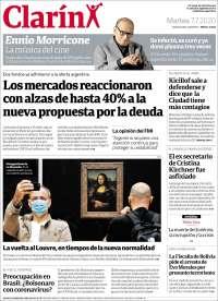 07/07/2020      ARGENTINA  UNA  PRIMERA PÁGINA DE LA PRENSA