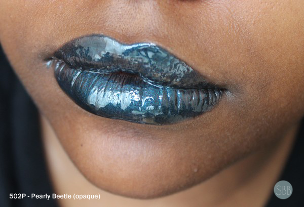 picture of blue-green lips