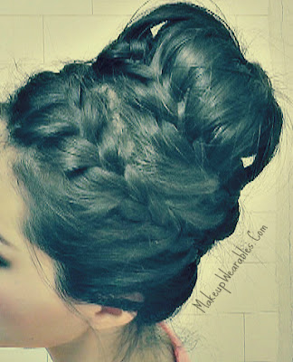 Beautiful, creative, braided hairstyles & updo tutorial for everyday, formal, or a party.  For medium long hair. (step-by-step)