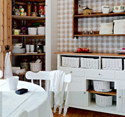 White Color and warmth interior in the Kitchen