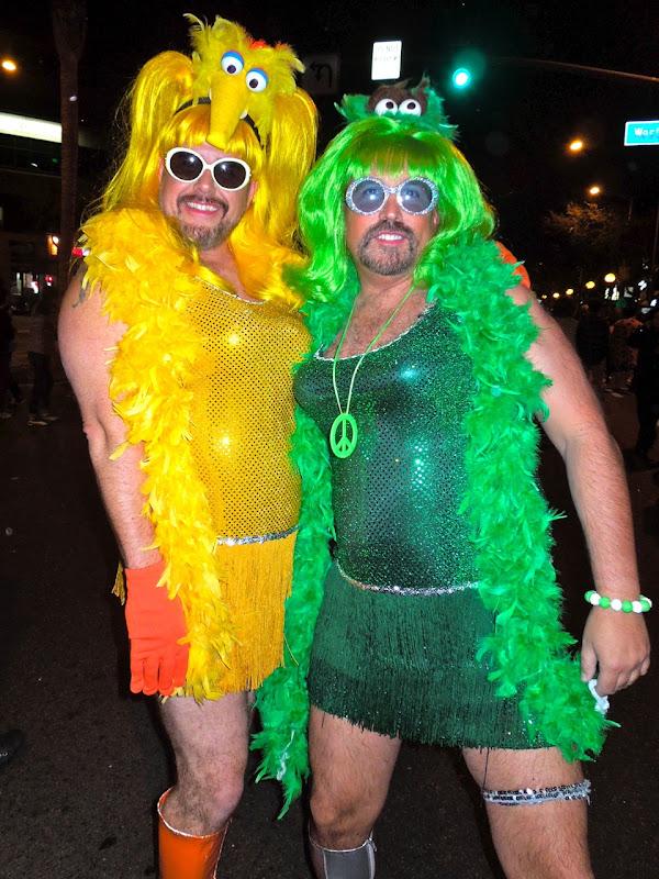 West Hollywood Halloween Carnaval Sesame Street characters