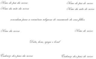 dicas de Convites de Casamento para Imprimir