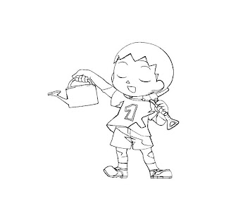#4 Villager Coloring Page