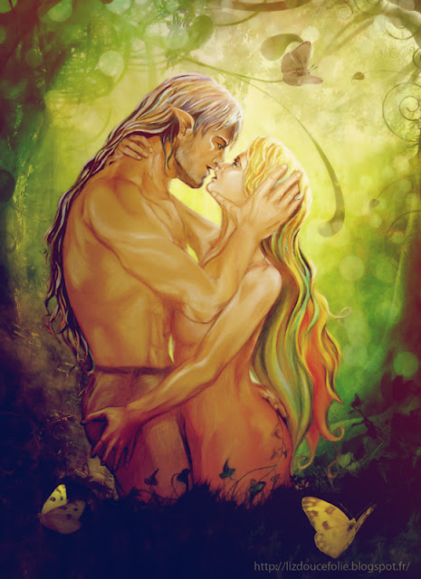 passion possessiveness possessivite amour lover lovers tendresse tenderness loveliness fantasy fantastique liz douce folie lizdoucefolie aquarelle pastelle huile homme femme couple man woman cheveux longs long hair