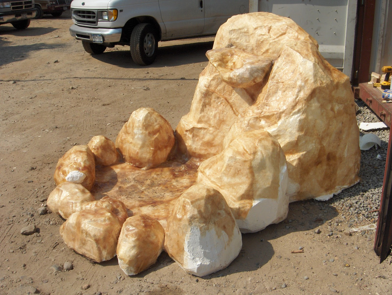 Using fiberglass on foam stage props the art of faking for Rocks all insulation