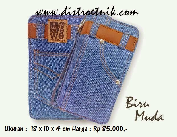 dompet jeans it just we classic series biru muda