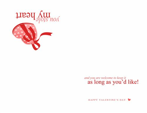 Romantic Valentine's Day Gift Cards Templates