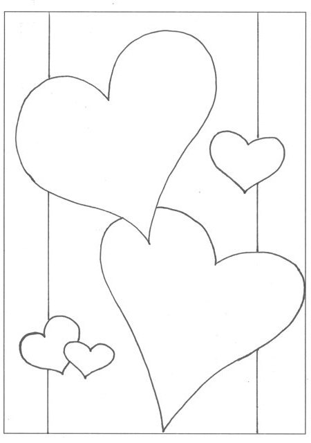 valentines stained glass coloring pages - photo#3
