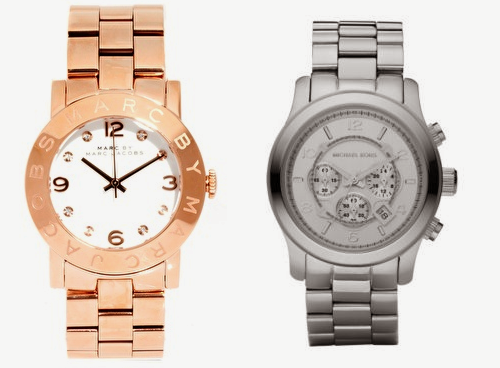 marc-jacobs-rose-gold-watch-michael-kors-silver-watch