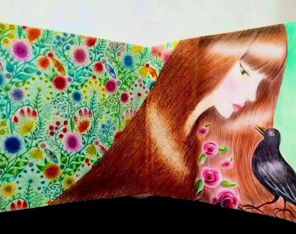 decoracao jardim secreto : decoracao jardim secreto:DIY Decoração: Livro de colorir Jardim Secreto: Minhas pinturas