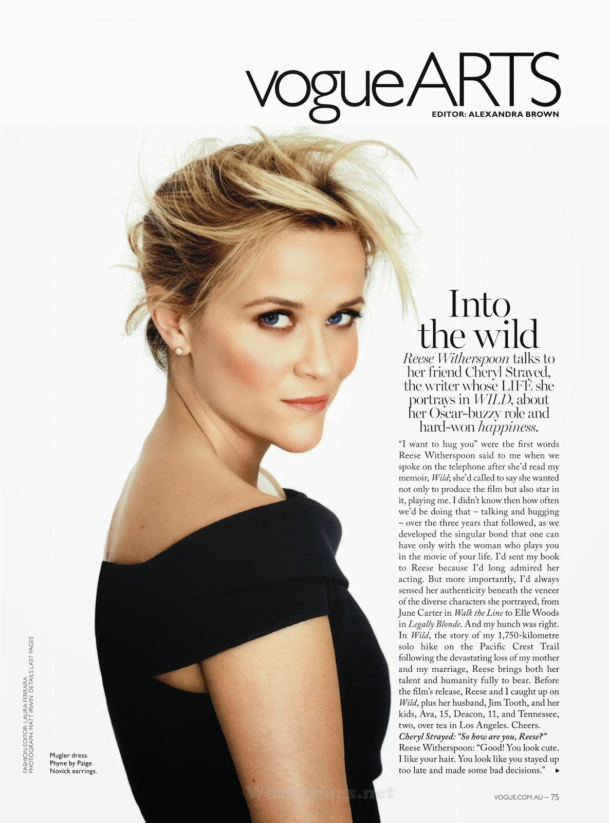 Reese Witherspoon - Vogue, Australia, February 2015