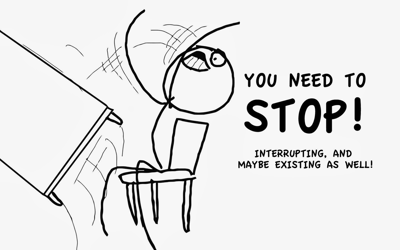 people who interrupt conversations