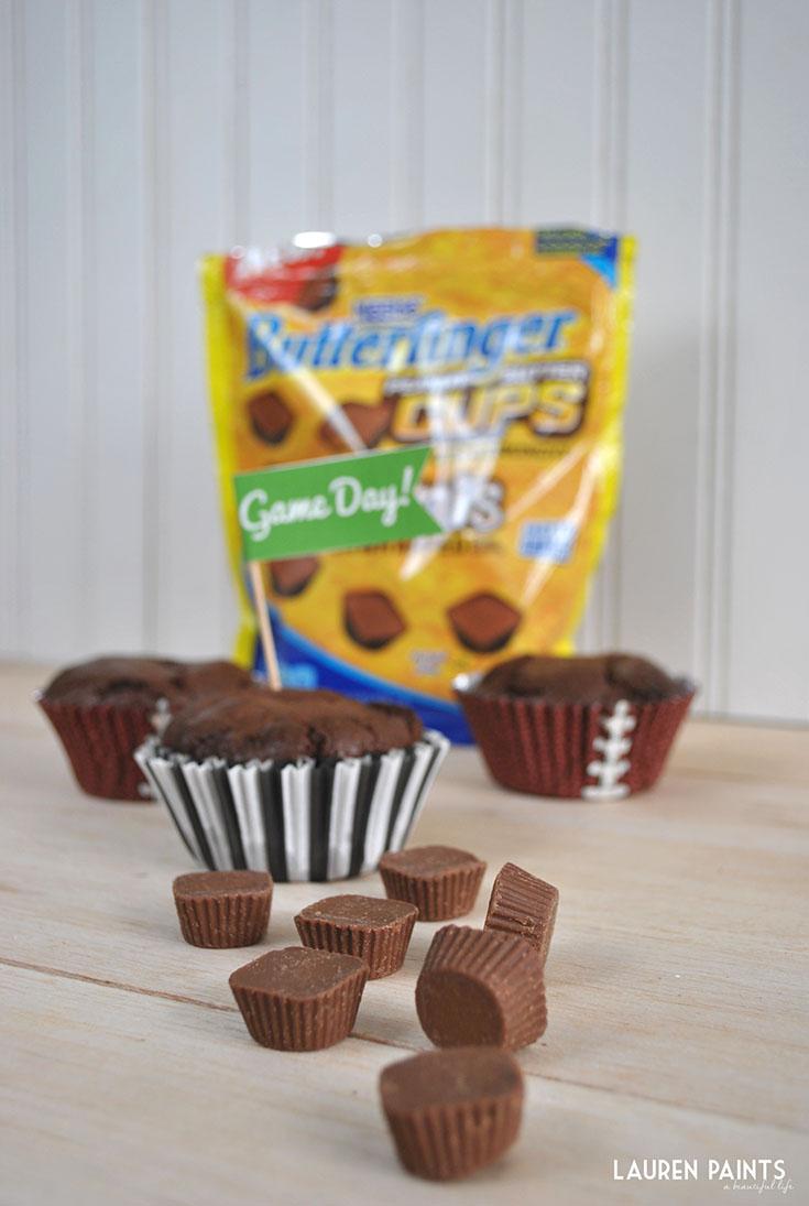 Butterfinger Peanut Butter Cup Sundae Touchdown Recipe