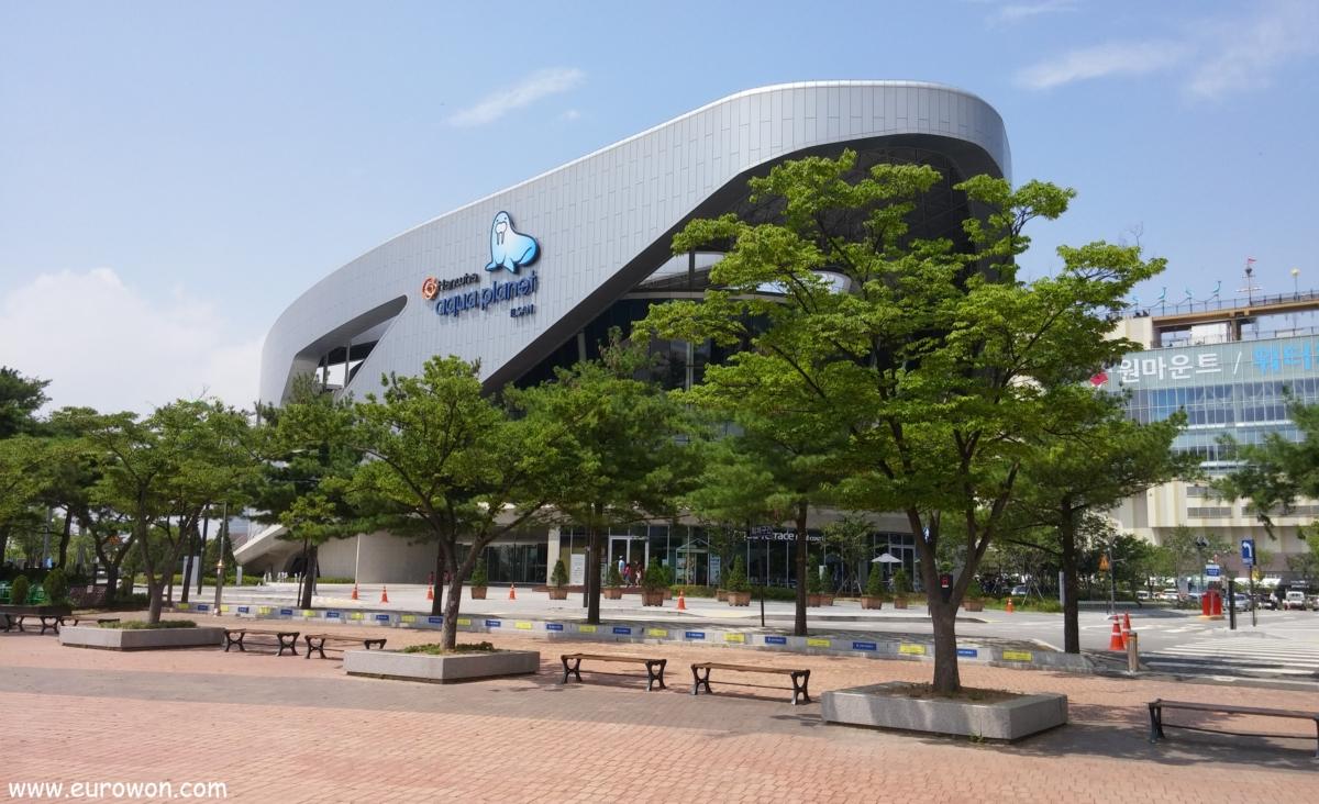 Hanwha Aqua Planet de Ilsan en Goyang al norte de Seúl