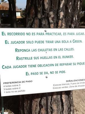 Reglas de etiqueta en el golf