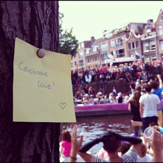 Post-it post it Gay Pride Amsterdam