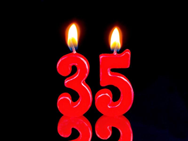 """35"" Candles Burning"