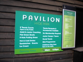 Sports at Pavilion in the Park at Hyde Park in London - the sports on offer include Mini Golf