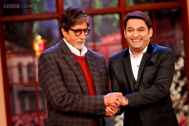 Amitabh Bachchan, Boman Irani and Parth Bhalerao in Comedy Nights