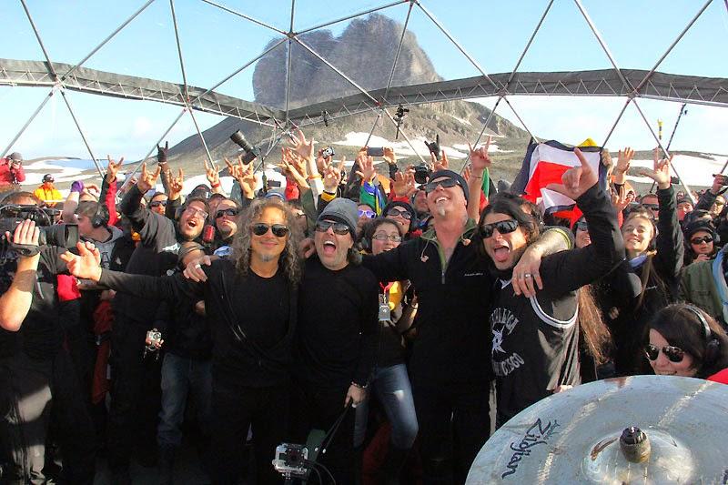Metallica en su concierto en la Antártida