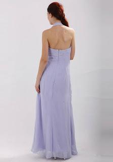 Halter Chiffon Floor Length Prom/Evening Dress