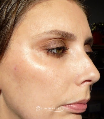 Smashbox L.A. Lights in Silver Lake Sunset cream blush stick worn on face swatch