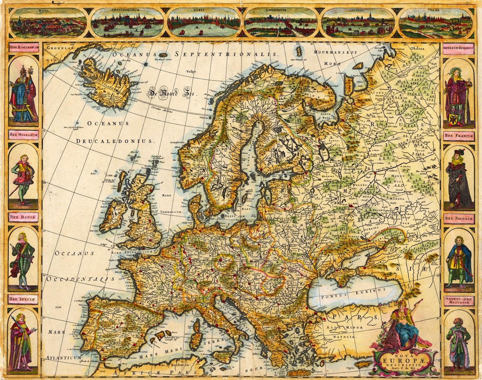 Mapa De Europa Antigua