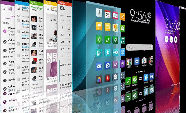 ZenUI merupakan tampilan Launcher khas ASUS Zenfone Series