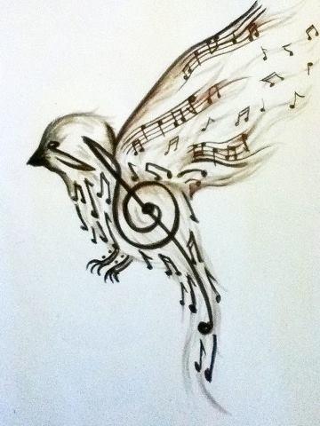 tatouage clé de sol nuque - Tatouage de Sheryfa Luna dans la nuque en clé de sol et
