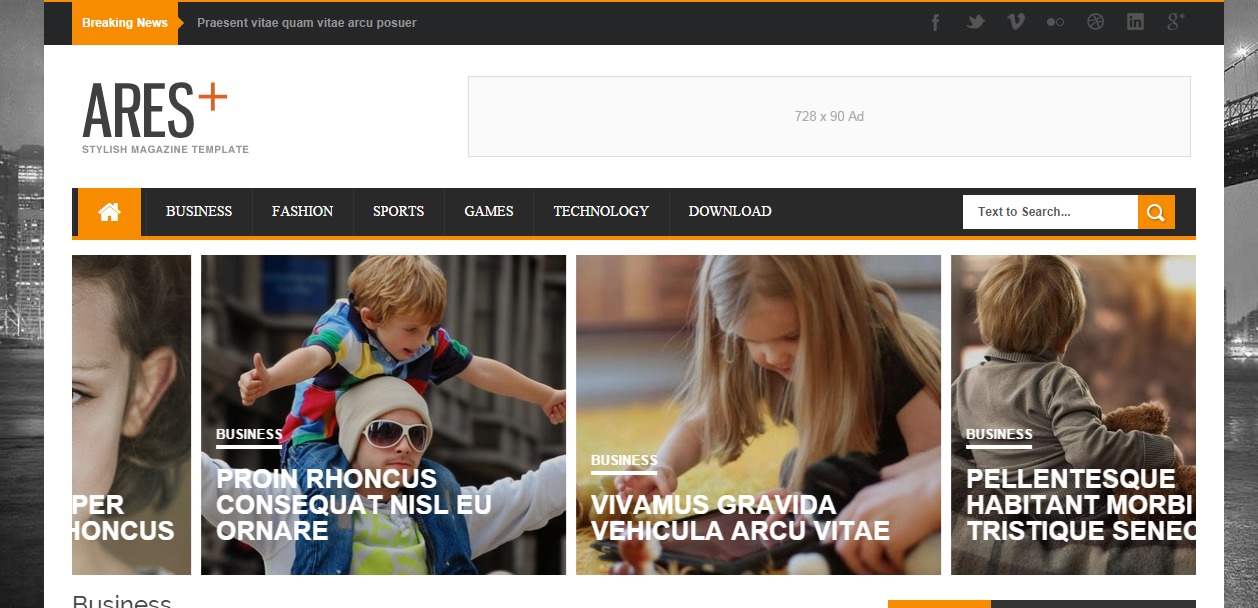Ares Responsive Free Blogger Templates