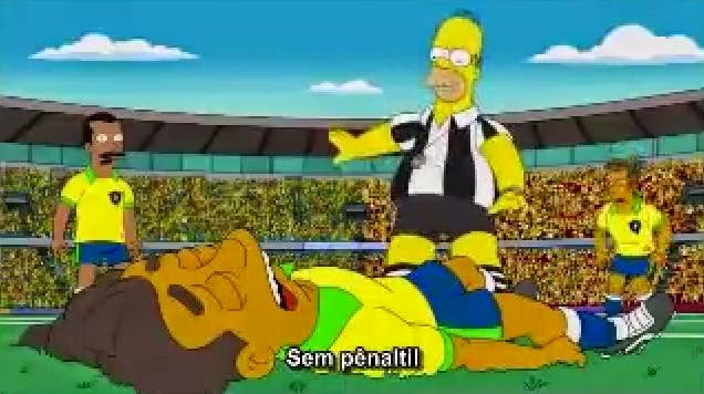 Os Simpsons previram a vitória da Alemanha sobre o Brasil
